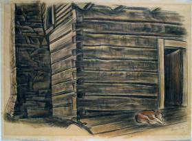 Henry Willy's Log House, Pennland, N.C.