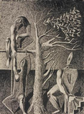 Three Figures and a Tree