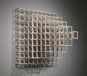 Wall Piece #2, Cube Structure Based on Nine Modules