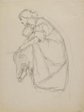 Sketch of a Seated Woman