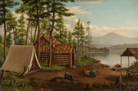 Untitled (Adirondack Camp Scene)