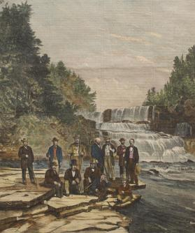 The Secretary of State and the Diplomatic Corps at Trenton Falls