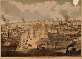 View of the City of Utica, New York