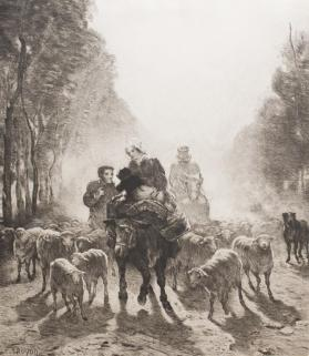 Une Famille allant au marche (Going to Market on a Misty Day)
