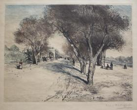 Road Scene with People