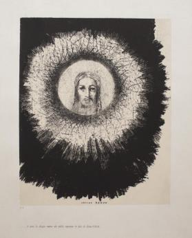 And in the disc of the sun shines the face of Jesus Christ. Plate 10 from the portfolio, Temptation of Saint Anthony (first series)