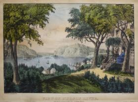 View on Hudson River:  from Ruggles House, Newburgh
