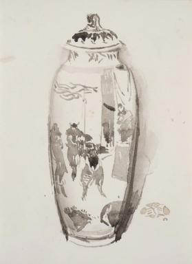Vase Decorated with Soldiers
