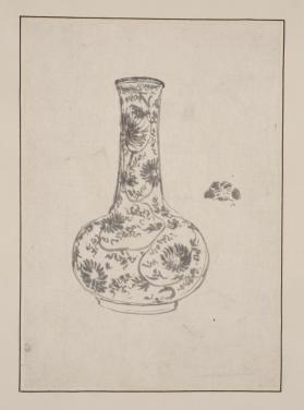 Bottle Decorated With Asters