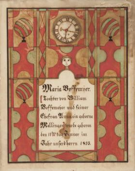 Geburts-Schein:  Birth Certificate of Maria Boffmeyer