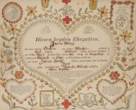 Taufschein: Birth and Baptismal Certificate of Jacob Weiang
