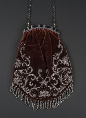 Chatelaine Purse; Beaded Bag