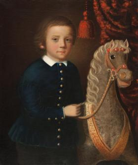 A Munson Boy with a Hobby Horse