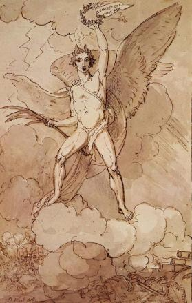 Study for an Allegorical Figure of Victory Celebrating the Battle of Waterloo