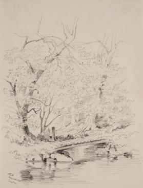 Bridge in a Wooded Landscape