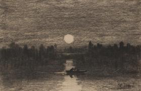 Moonlight Boating Scene