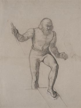 "Disembarking Figure: A Preliminary (Unused) Study for ""The Landing of Columbus on San Salvador, October 12, 1492"""