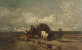 Landscape with Figures, Oxen and Cart