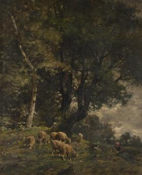 Sheep and Shepherdess