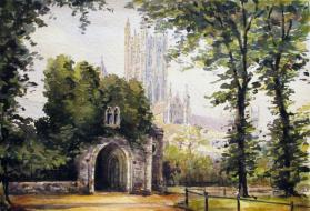 View of an English Cathedral