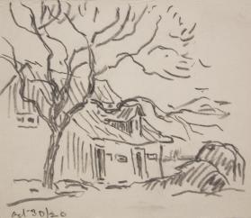 House, Tree and Haystack