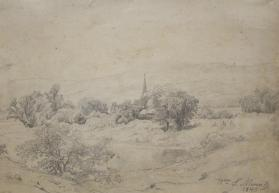 Landscape with a Church Steeple