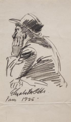 Untitled (Man Wearing A Hat, Seen from Behind)