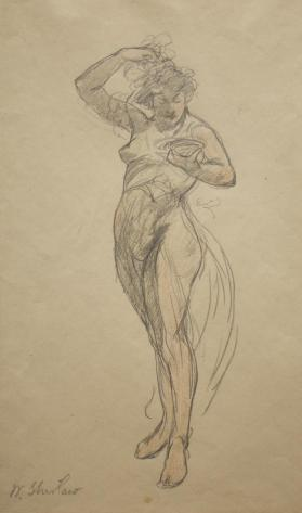 "Study for the Allegorical Figure, ""Coral"""