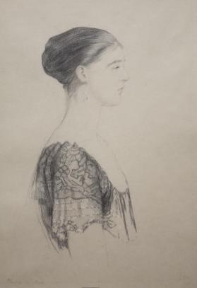 """Lace Shoulders"": Profile Portrait of a Woman"