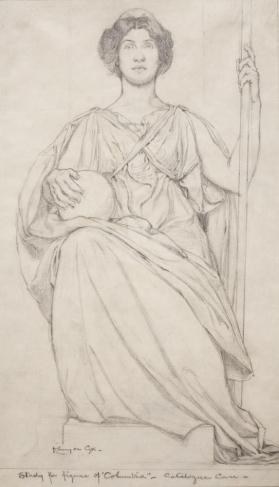 "Study for Figure of ""Columbia"""