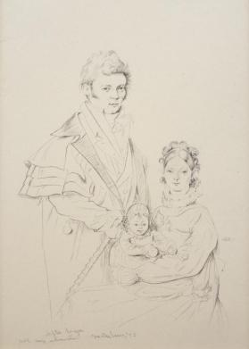 Copy of Portrait Drawing by J.A.D. Ingres