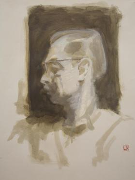 Untitled (Man's Head in Profile)