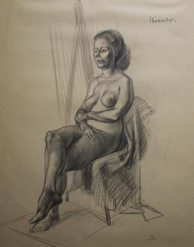 Study of a Seated Nude Woman