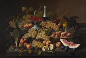 Still Life with Fruit and Champagne