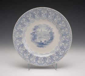 """American Cities and Scenery: Utica"" Plate"