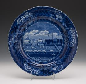 """The Landing of Lafayette at Castle Garden, New York"" Plate"