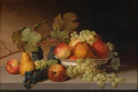 Still Life: Apples, Grapes, Pear