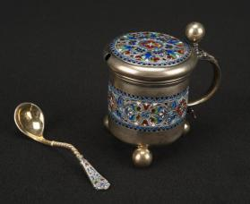 Mustard Pot with Spoon
