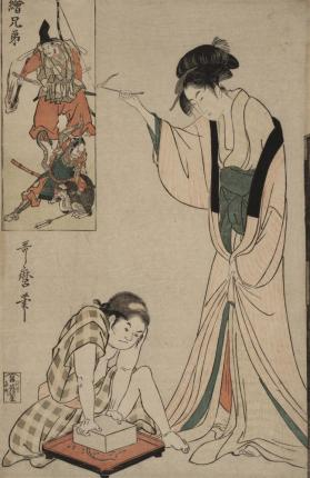 Parody of Minamoto No Yorimasa Slaying the Nuye Monster (from 'Brother Pictures')