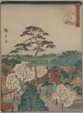Ichigaga Hachiman Shrine (from Forty-Eight Famous Views in Edo)