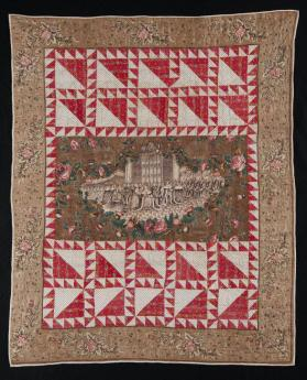 "Quilt, ""The Coronation of Queen Victoria"""