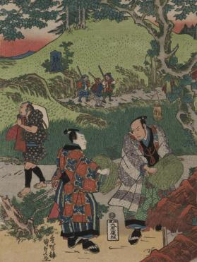 Samurai, Tradesmen and Farmers (scene from the Chushingura)