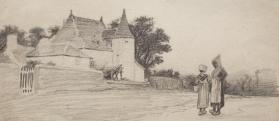 "Study for ""Old White Houses, Vitré"""
