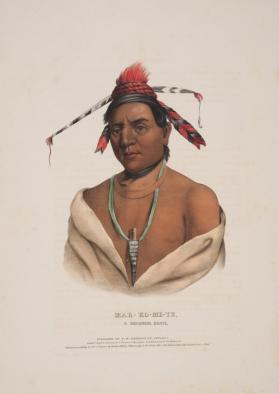 Portrait of Mar-ko-me-te:  A Menomene Brave