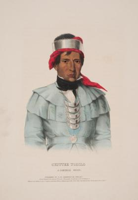 Portrait of Chittee Yoholo:  A Seminole Chief