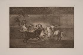 Bull Fights: Plate 39: A Picador and his Companions Finish Off the Bull
