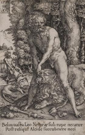 Hercules Killing the Nemean Lion