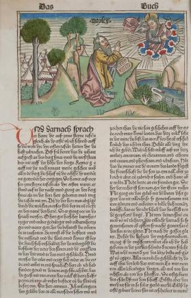 Moses Receives the Stone Tablets on Mount Sinai (Exodus 34) [from the Nuremberg Bible of 1483]