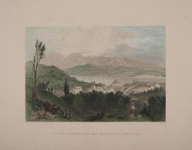 View of Hudson City and the Catskill Mountains