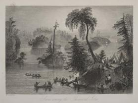 Scene Among the Thousand Isles, St. Lawrence River